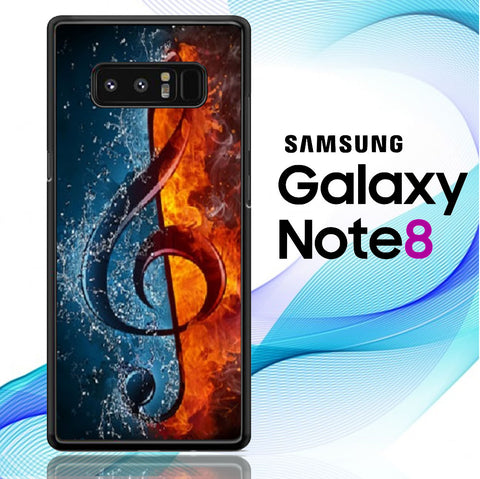 Music Note Flames Samsung Galaxy Note 8  Case