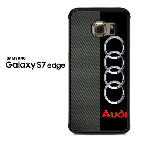audi carbon logo Samsung Galaxy S7 Edge Case