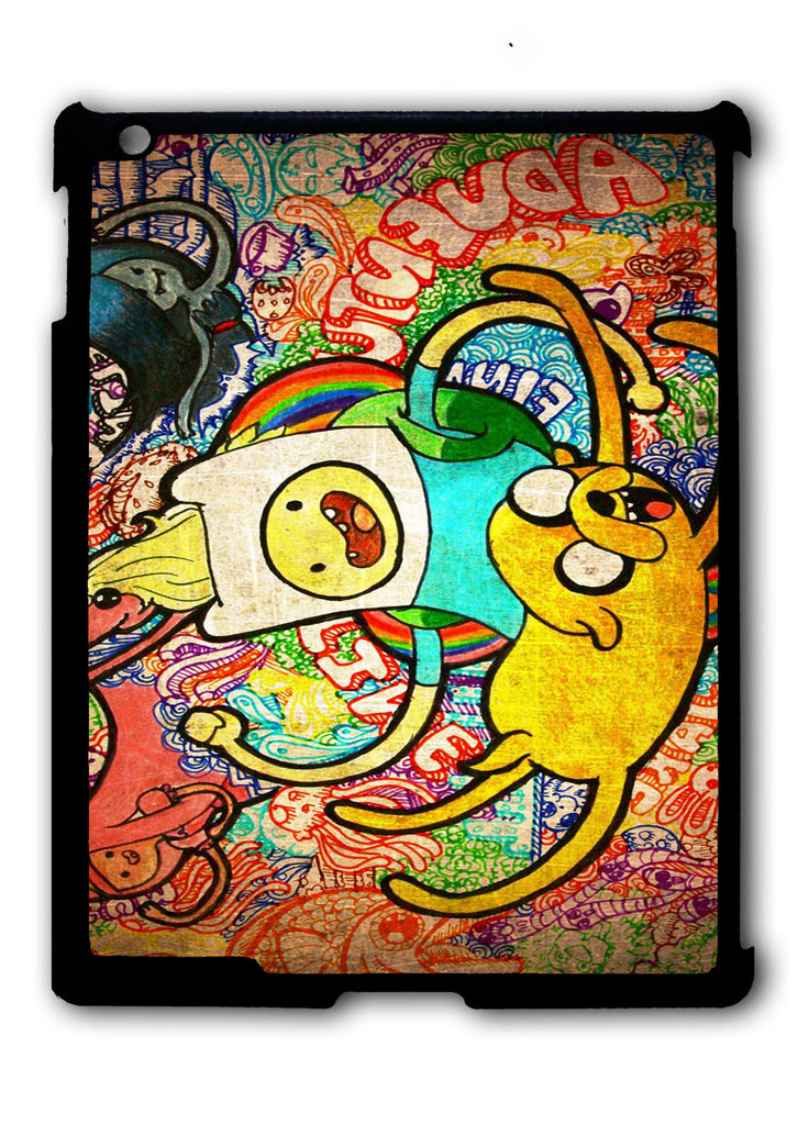 Crayon Adventure Time iPad 2 3 4, iPad Mini 1 2 3 , iPad Air 1 2, iPad Pro 9.7 12.9 Case
