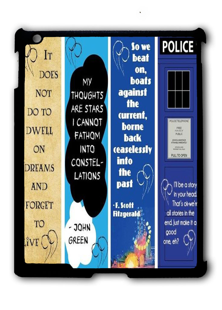 Doctor Who, The Great Gatsby, The Fault in Our Stars, Harry Potter iPad 2 3 4, iPad Mini 1 2 3 , iPad Air 1 2, iPad Pro 9.7 12.9 Case
