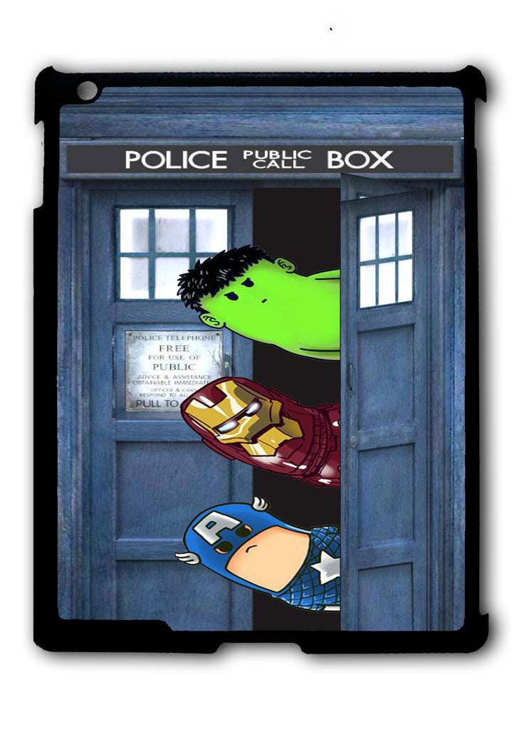 Dr Who Tardis Crooked Neck iPad 2 3 4, iPad Mini 1 2 3 , iPad Air 1 2, iPad Pro 9.7 12.9 Case