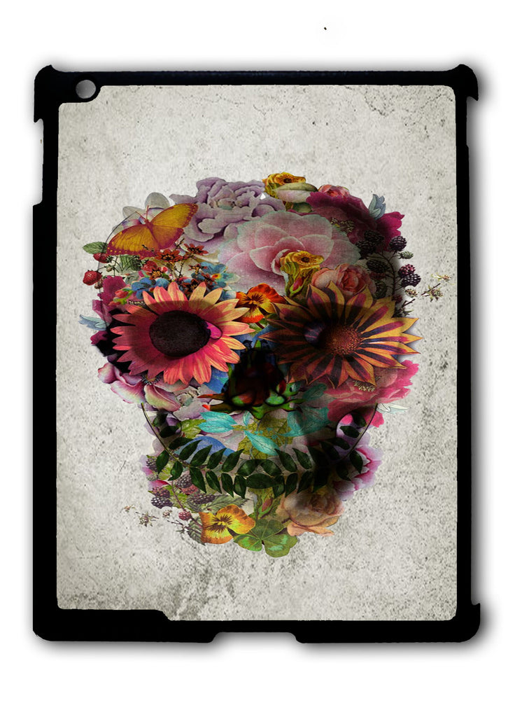 Floral Skull Art iPad 2 3 4, iPad Mini 1 2 3 , iPad Air 1 2, iPad Pro 9.7 12.9 Case