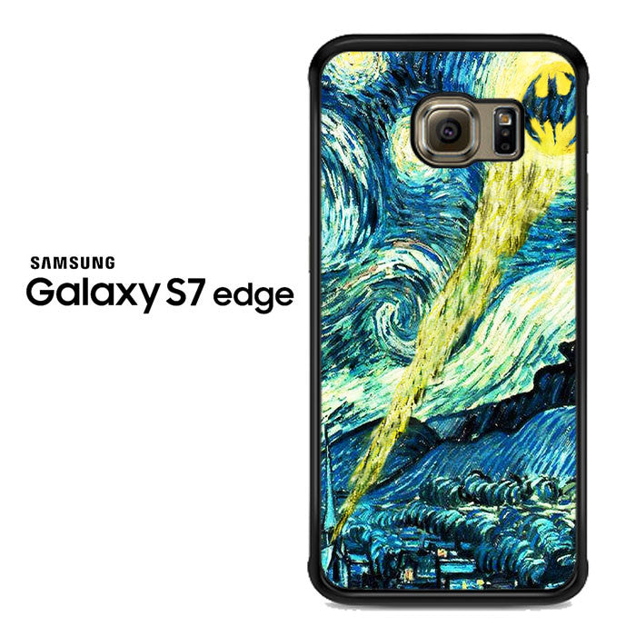 batman logo starry night Samsung Galaxy S7 Edge Case