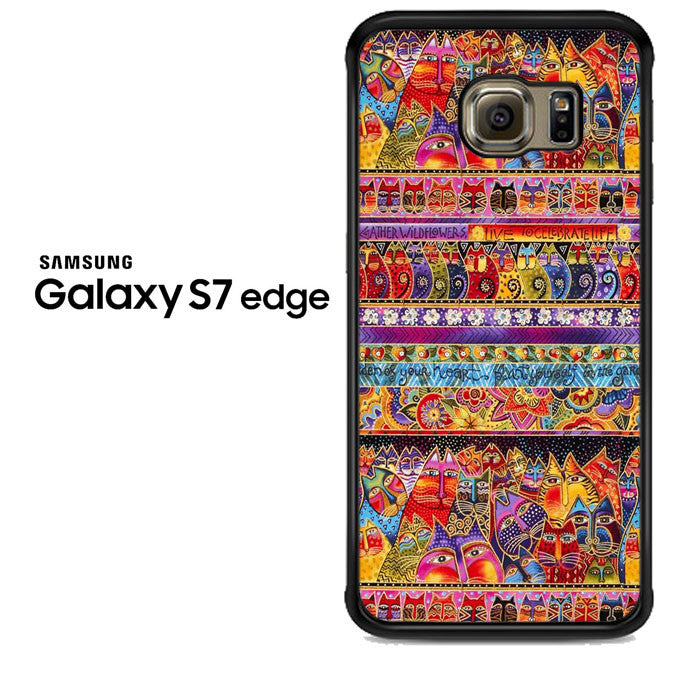 cats design pattern Samsung Galaxy S7 Edge Case