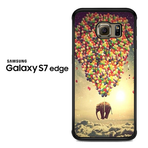 Elephant Up Balloons Samsung Galaxy S7 Edge Case