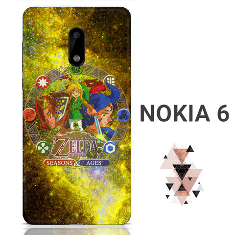 Zelda Seasons and Ages Nokia 6 3D Full Print  Case