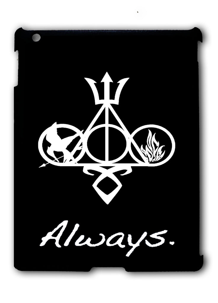 Harry Potter and Friends Always Symbols iPad 2 3 4, iPad Mini 1 2 3 , iPad Air 1 2, iPad Pro 9.7 12.9 Case