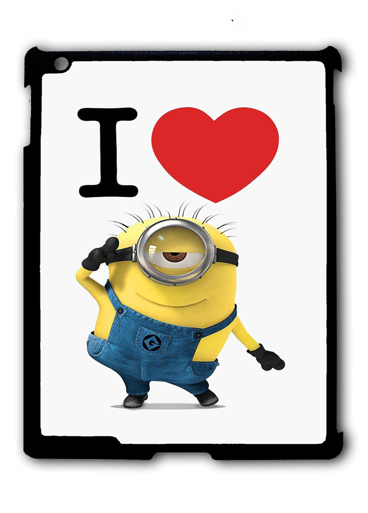 I Love Minions iPad 2 3 4, iPad Mini 1 2 3 , iPad Air 1 2, iPad Pro 9.7 12.9 Case