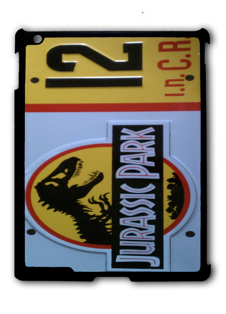 Jurassic Park License Plate iPad 2 3 4, iPad Mini 1 2 3 , iPad Air 1 2, iPad Pro 9.7 12.9 Case