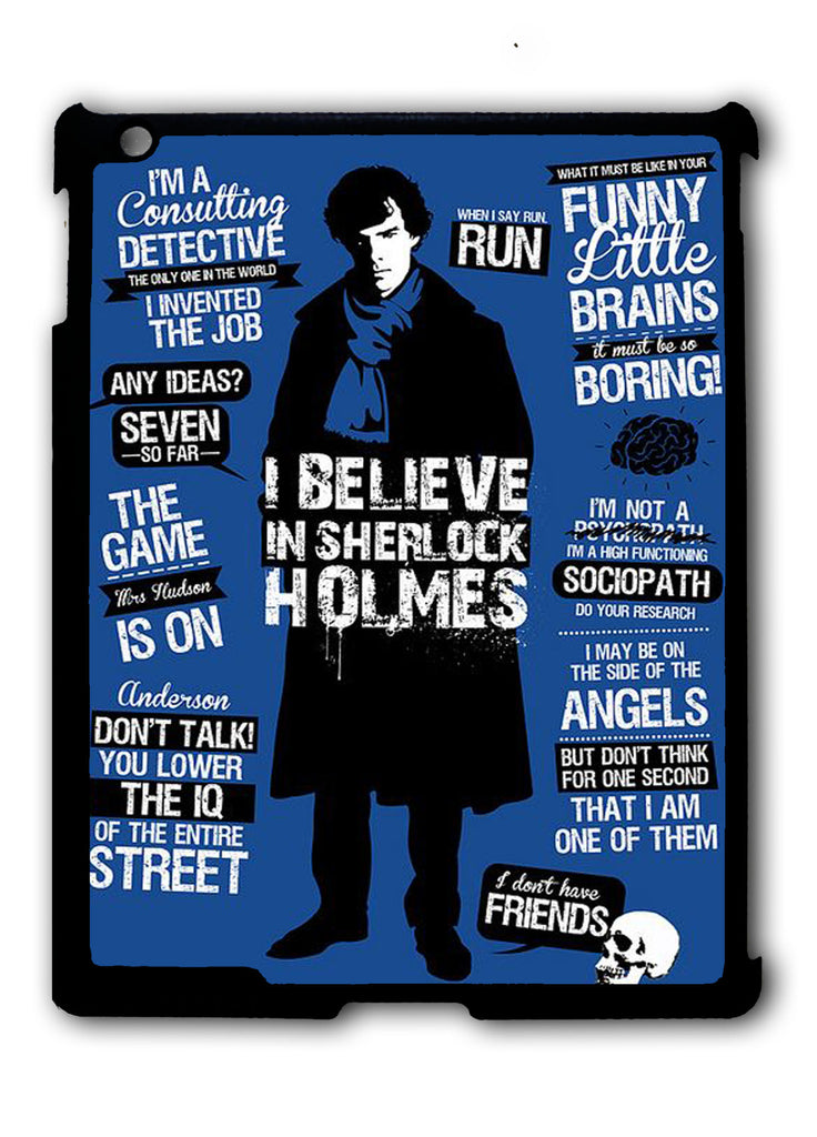 Love Sherlock Art iPad 2 3 4, iPad Mini 1 2 3 , iPad Air 1 2, iPad Pro 9.7 12.9 Case