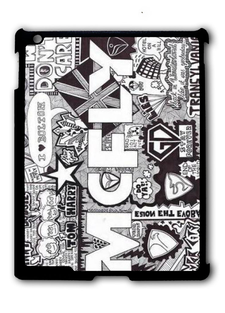 Mcfly Lyrics iPad 2 3 4, iPad Mini 1 2 3 , iPad Air 1 2, iPad Pro 9.7 12.9 Case