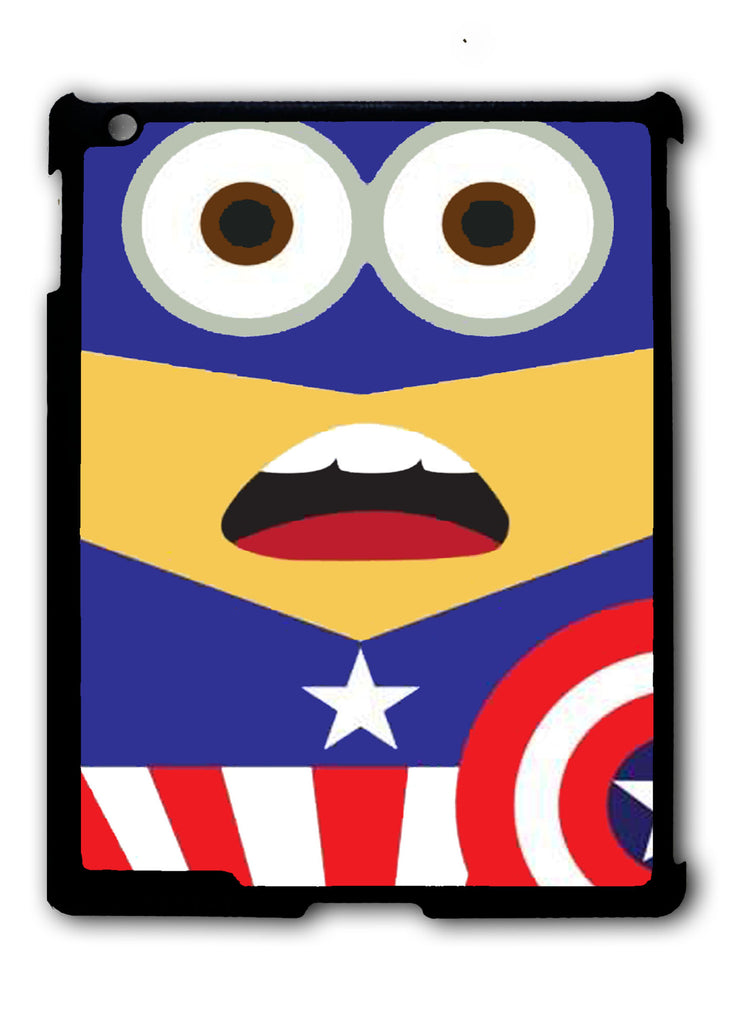 Minions Captain America iPad 2 3 4, iPad Mini 1 2 3 , iPad Air 1 2, iPad Pro 9.7 12.9 Case