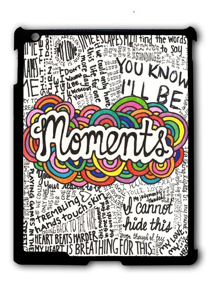 One Direction Moments Lyric iPad 2 3 4, iPad Mini 1 2 3 , iPad Air 1 2, iPad Pro 9.7 12.9 Case