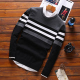 Striped patchwork sweater