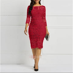 shinenows.com: dress with lace sleeves