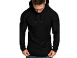 Thin long-sleeved t-shirt with hood