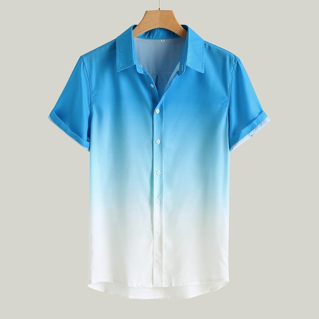 Short-sleeved shirt with a gradient