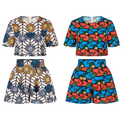 Two-piece short-sleeved top