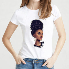 Short-sleeved T-shirt with head print