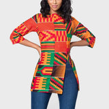 Casual t-shirt with an African print