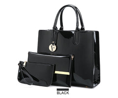 3 sets of leather handbags