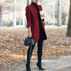 shinenows.com: Long wool coat, warm and elegant