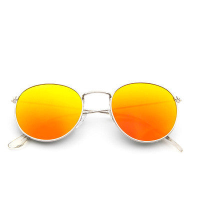Vintage sunglasses with a round frame