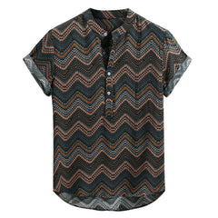 Fashionable lace-up shirt made of silk