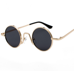 Sunglasses round frame mirror