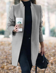 Long wool coat warm elegant