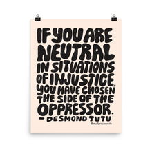 Load image into Gallery viewer, Cream Desmond Tutu quote Poster