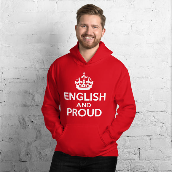 English and Proud Unisex Hoodie