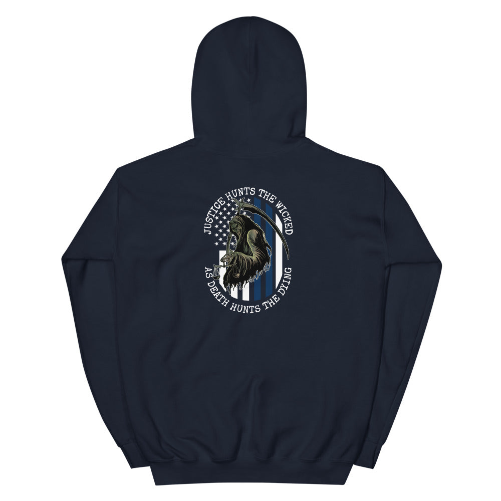 Justice Hunts the Wicked Men's Graphic Hoodie