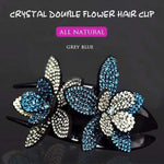 (60% OFF TODAY)Rhinestone Double Flower Hair Clip