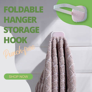 Punch-free Foldable Hanger Storage Hook