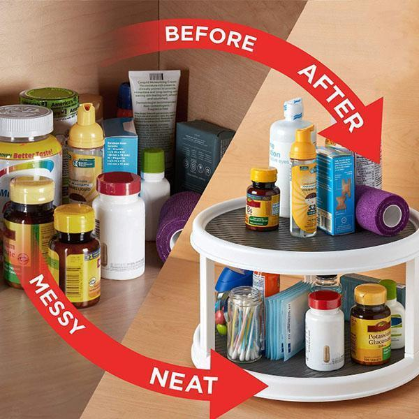 (50% OFF!!)Double-layer Rotating Organizer Shelf(Buy 2 free shipping)