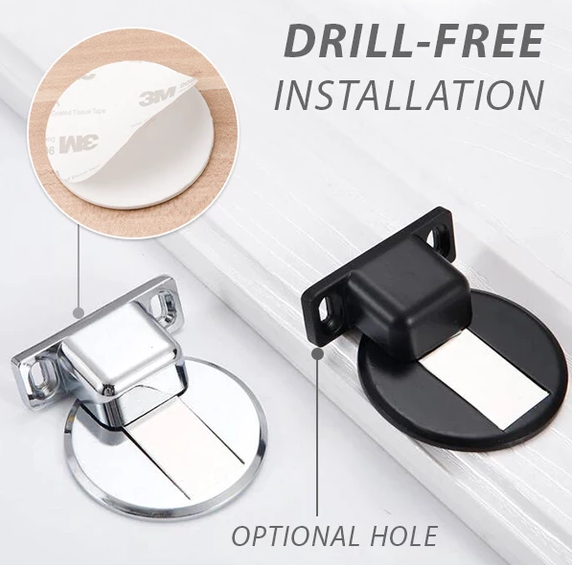Tool free installation door suction