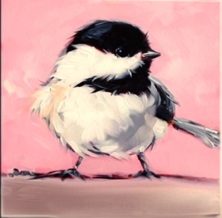 Sparrow Painting || DIY painting || PInk Background || White Black Sparrow