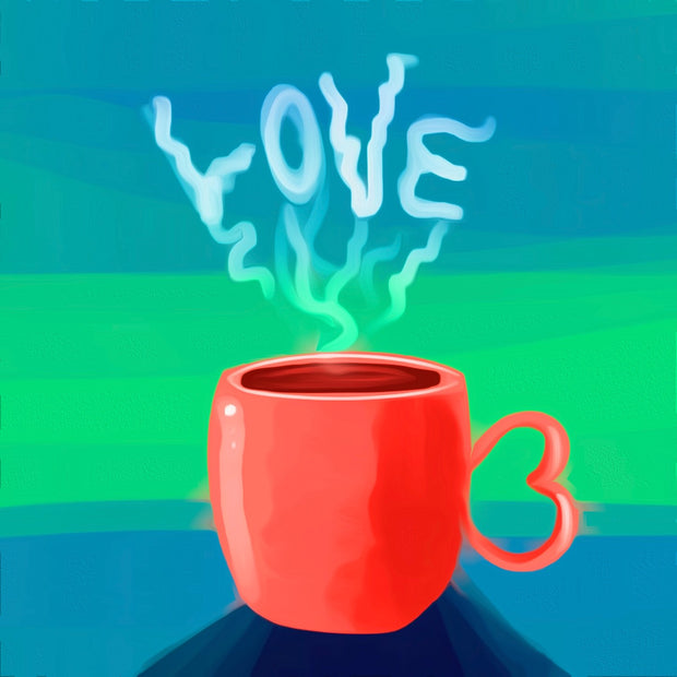 Love Cup  Painting || DIY Painting || Adult Painting