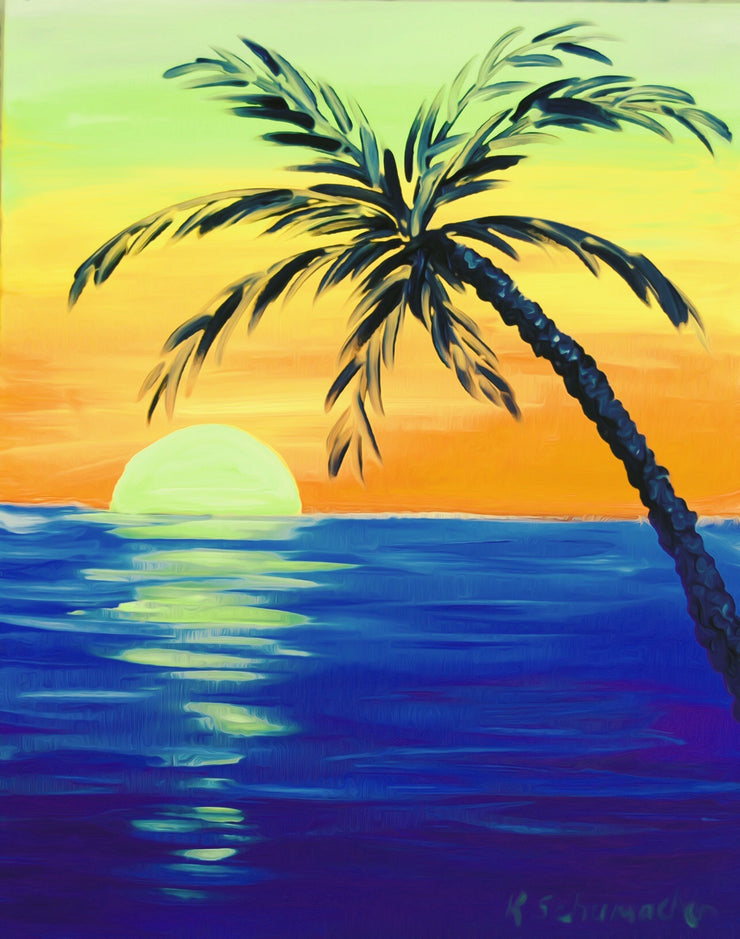 Sun Set Beautiful Evening Painting || DIY Painting || Adult Painting