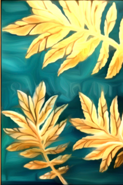 Yellow Leaves Painting || DIY Painting || Adult Pinting