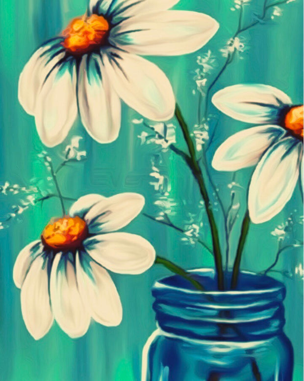 Flowers in Jar Painting || DIY Painting || Adult Painting