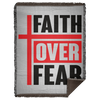 Faith Over Fear Christian Woven Blanket - 60x80
