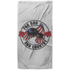 For God & Country Christian Oversized Beach Towel - 37x74