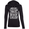 Might Power Christian Ladies Hooded Long Sleeve Shirt
