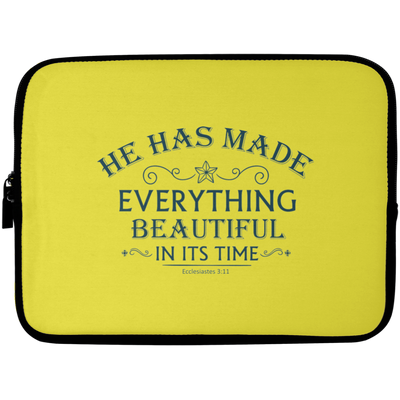 He Has Made Christian Laptop Sleeve - 10 inch