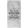By His Wounds We Are Healed Christian Beach Towel - 32x64