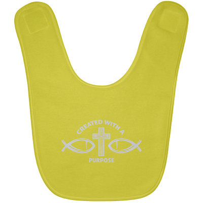 Created With A Purpose Christian Baby Bib