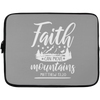 Faith Can Move Mountains Christian Laptop Sleeve - 13 inch