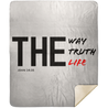 The Way Truth Life Christian Mink Sherpa Blanket 50x60